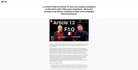 « Article 13 » : tout comprendre sur la directive votée par l'Union Européenne