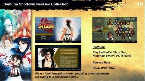 Samurai Shodown NeoGeo Collection : une nouvelle compilation pour cet automne