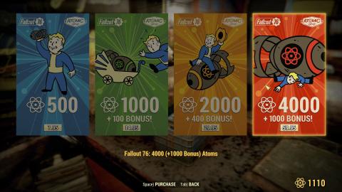 Fallout 76 : la boutique in-game va accueillir des objets non-cosmétiques