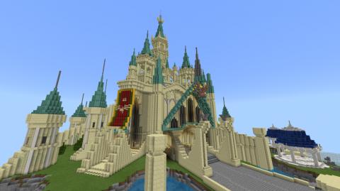 Minecraft : Nintendo met en lumière une reproduction du château d'Hyrule