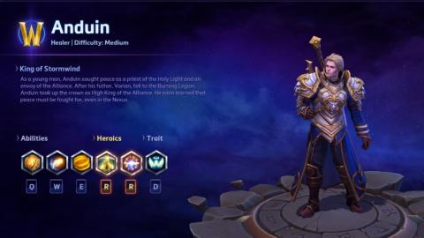 Heroes of the Storm : Anduin Wrynn arrive dans le Nexus