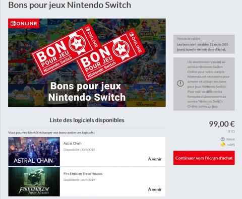 Nintendo Switch : un programme de bons pour faire des économies sur l'eshop