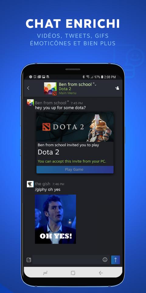 L'application Steam Chat débarque sur iOS et Android