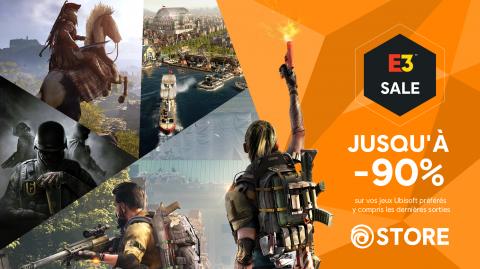 Ubisoft Store : jusqu'à -90% sur le catalogue avec la promotion E3 !