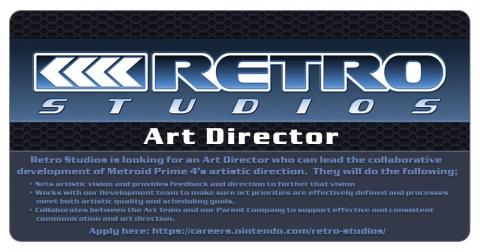 Metroid Prime 4 : Retro Studios recrute un directeur artistique