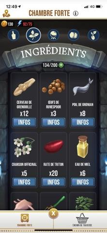 Ingrédients des Potions