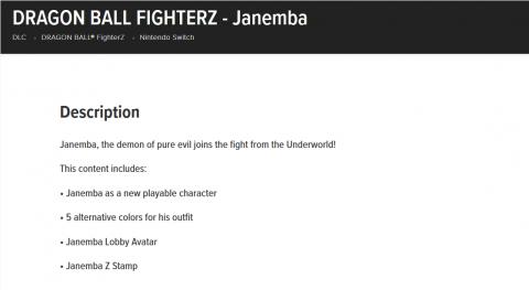 Dragon Ball FighterZ : Nintendo confirme l'arrivée de Janemba en DLC