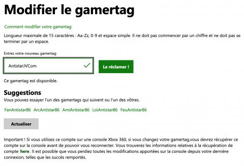 Xbox Live, changement gamertag : comment récupérer le gamertag de vos rêves ?
