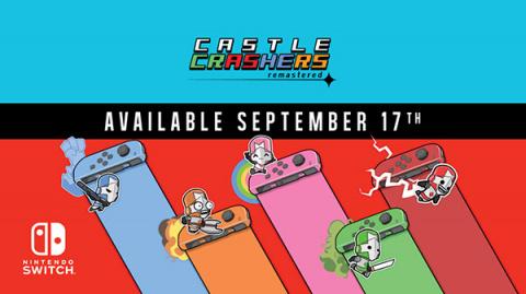 Castle Crashers Remastered daté sur Nintendo Switch