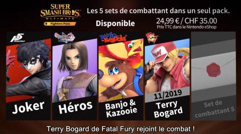 Super Smash Bros. Ultimate : Terry Bogard (Fatal Fury) sera présenté demain