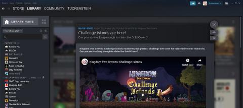 Steam : la bêta ouverte de la nouvelle bibliothèque démarre le 17 septembre