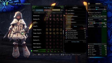 Monster Hunter World : Iceborne, liste des armures de rang maître
