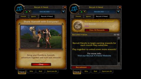 World of Warcraft : Blizzard présente les nouvelles récompenses du programme de parrainage