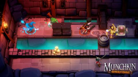 Munchkin : Quacked Quest - L'adaptation du jeu de cartes se trouve une fenêtre de sortie