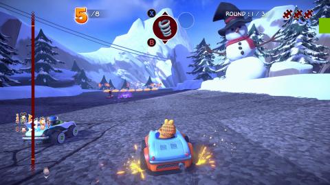 Garfield Kart Furious Racing ! dévoile de nouvelles images