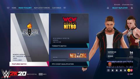 WWE 2K20 : Le retour des salons en ligne annoncé, accompagné d'autres nouveautés