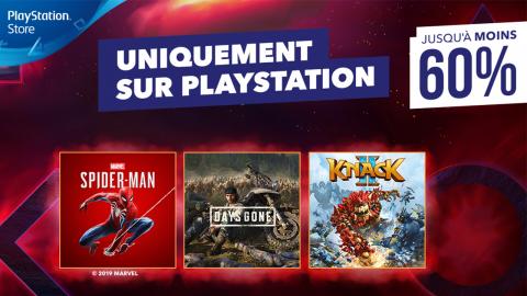 PS Store : jusqu'à 60% de réduction sur les exclus PS4
