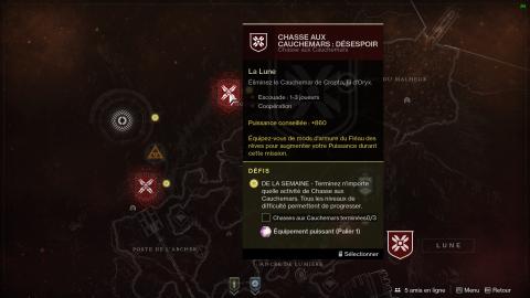 Destiny 2 : la Chasse aux Cauchemars