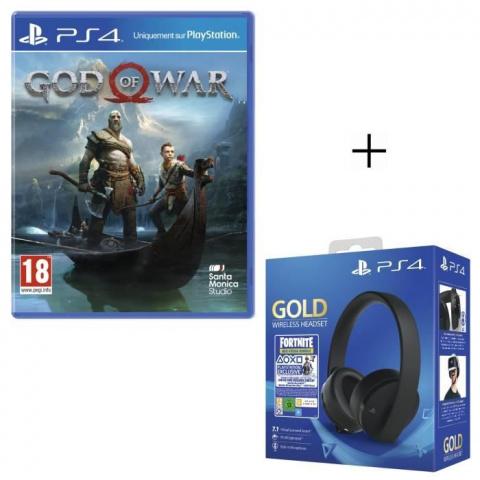 Pack God Of War + Casque PlayStation Gold à 89,99€ chez Cdiscount!