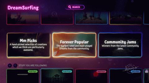 Dreams : la dernière mise à jour facilite la navigation dans le Dreamiverse