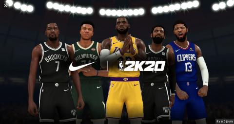 NBA 2K20 : Le lancement du mode Nation Mon Joueur et d'un programme avec Nike