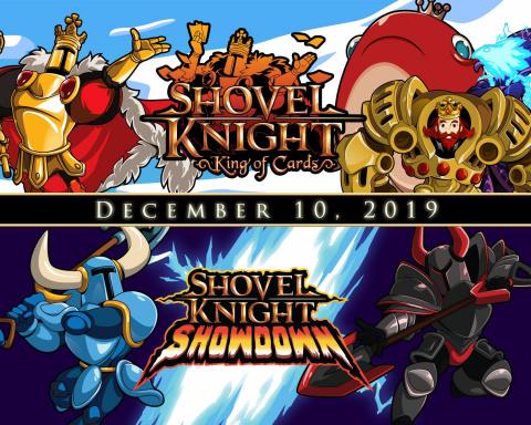 Shovel Knight King of Cards et Showdown sortiront le 10 décembre, accompagnés de l'édition physique
