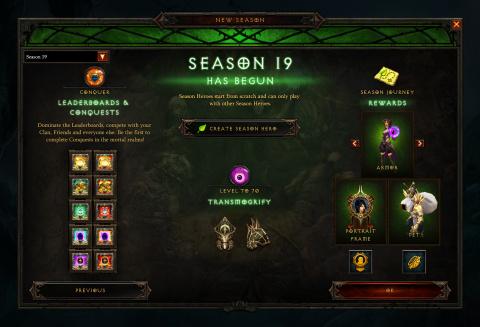 Diablo 3 : la Saison de l'Éternel Conflit débutera le 22 novembre