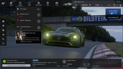 Gran Turismo Sport : Lewis Hamilton à l'honneur dans un nouveau DLC