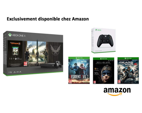 Black Friday : Pack Xbox One X + 4 jeux + une manette à 399€