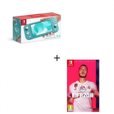 Black Friday : Pack Switch Lite Turquoise + Fifa 20 à 229,99€