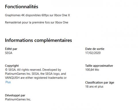 [MàJ] Vanquish : le Microsoft Store liste un remaster du TPS de PlatinumGames