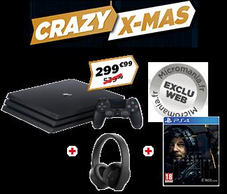 PS4 Pro + Casque PS GOLD + Death Stranding à 299,99€!