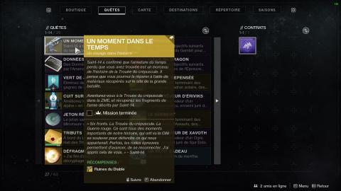 Destiny 2 : débloquer l'arme exotique Ruines du Diable, notre guide