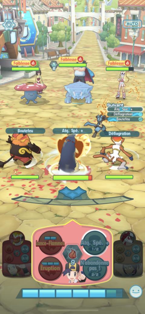 Pokémon Masters, Entraînement Feu : abattez le mur de glace ! Comment réussir la Coop en Expert, notre guide