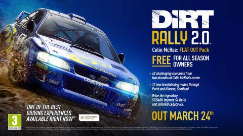 DiRT Rally 2.0 : un DLC dédié à Colin McRae arrive le 24 mars
