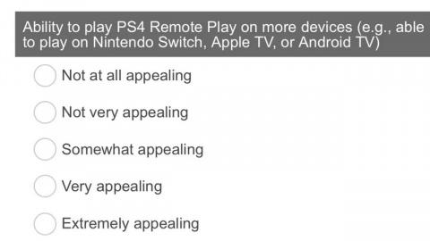 PS4 : Sony demande aux joueurs si le Remote Play sur Switch les intéresserait