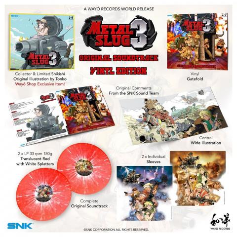 Metal Slug 3 : Wayô Records annonce l'OST sur CD et vinyles