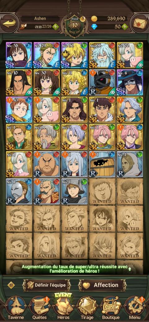 Quels personnages viser pour débuter ?