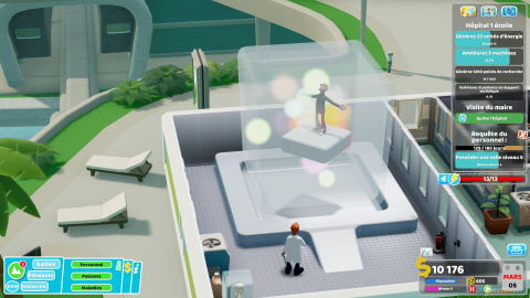 Two Point Hospital : Off the grid - Pluie de bobos écolos