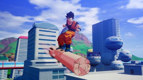 Dragon Ball Z Kakarot - Une fenêtre de sortie et une image pour le pilier de Tao Pai Pai