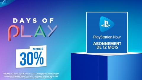 Days of Play : le PS Now est en promo !