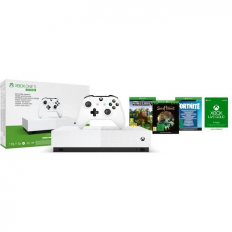 Promo Xbox: Xbox One S All Digital + 3 jeux + Xbox Live Gold à 149,99