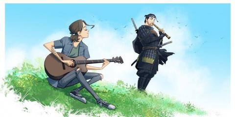 The Last Of Us Part II : Des artworks d'Ellie avec d'autres héros de JV créés par des studios