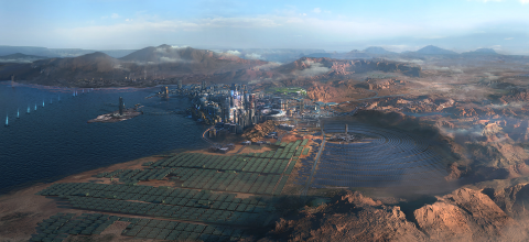 Cyberpunk 2077 : Le quartier des Badlands illustré