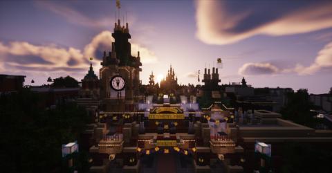 Minecraft - La chaîne Lunaria nous propose une visite de Shanghai Disneyland