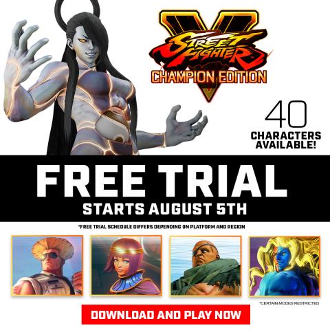 Street Fighter V : Champion Edition débute ses deux semaines d'essai gratuit