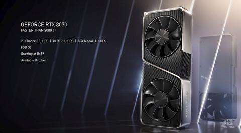 GeForce RTX 3070, 3080 et 3090: Nvidia dévoile sa nouvelle génération de cartes graphiques, à partir de 519 euros