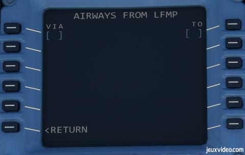 Flight Simulator, Airbus 320neo : Configuration du MCDU