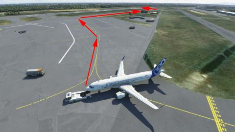 Flight Simulator, Airbus 320neo : Roulage