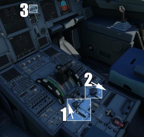 Flight Simulator, Airbus 320neo : Démarrage des moteurs et repoussage